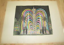 Old c.1900 Antique French THEATRE Game PRINT - The Luminous FOUNTAINS