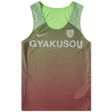 NEW NIKE LAB GYAKUSOU MENS XL X LARGE DISTANCE RUNNING GREEN RED TANK TOP 826136
