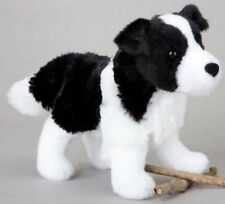 "MEADOW Douglas 7"" plush BORDER COLLIE stuffed animal toy black white dog"