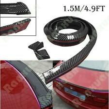 4.9ft/1.5M Universal Carbon Fiber Car Rear Roof Trunk  Rubber Spoiler Wing Lip
