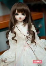 BJD Doll Hair Wig 9-10 inch 22-24cm Drak Brown 1/3 SD DZ DOD LUTS Perma-long