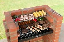 BARBECUE in mattoni kit INOX GRILL BLACK KNIGHT FAI DA TE Charcoal BBQ mattoni KIT dì 401C