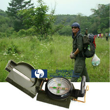 New Metal Pocket Army Style Compass Military Camping Hiking Survival Marching