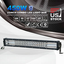 22 Inch 450W 7D LED Light Bar Spot Flood Combo Driving Work Off Road 12V24V 23""