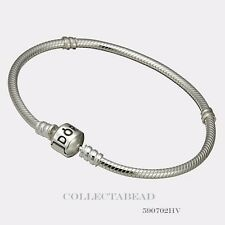 Authentic Pandora Sterling Silver Bracelet with Pandora Lock 9.1 590702HV