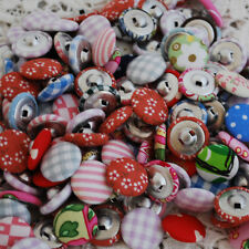Fabric Covered Buttons - 50 Count - Handmade - Assorted - 20mm