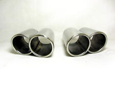 "Universal Sports Stainless Steel Exhaust Tail Pipe Tips Pair of 3.5"" Twin Trim"