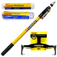 "Purdy PowerLock Extension Pole & Adjustable Paint Roller Frame & 2 x 12"" Sleeves"
