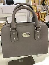 AUTHENTIC NEW NWT MICHAEL KORS SAFFIANO LEATHER GREY SMALL SATCHEL CROSSBODY BAG