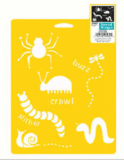 LADYBUG STENCIL WORM SPIDER BEE SNAIL BUGS STENCILS TEMPLATE CRAFT FREE SHIPPING