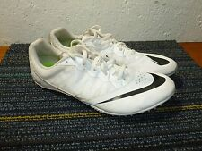 Nike Track Cleats Field White Men's Size 11 Zoom Nike Racing! VGUC!