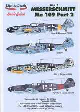 Lifelike Decals 1/48 MESSERSCHMIT Me-109 Fighter Part 2