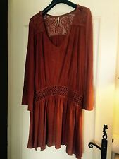 WOMEN FREE PEOPLE ANTHROPOLOGIE CROCHET DRESS SIZE M
