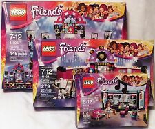 3 sets LEGO Friends 41103 41104 41105 Pop Star Show Stage Dressing Room & Studio