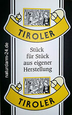 Kunstdarm, Kaliber 55/21, für Tiroler, mit Druck, 25 Stück