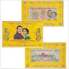 Bhutan 100 Ngultrum Oct 2011, Commemorating The Royal Wedding in folder (UNC) 1