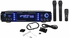 Rockville RPA7000UWM 1000w 4 Channel Rack DJ Amplifier/Receiver w/2 VHF Mics+USB