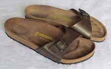 Birkenstock Ladies Mens Bronze Gold Mules Sandals UK Size 8 EU 42