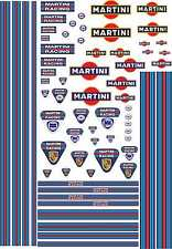 1-18 Scale Model Car Decals Martini Racing Style Exterior Vinyl Stickers Le Mans