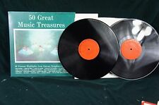 """ALL DISC ADS 2 50 GREAT MUSIC TREASURES """"As Seen On TV""""    M/M Jacket NM"""