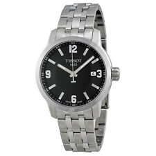 Tissot PRC 200 Quartz Black Dial Stainless Steel Sport Mens Watch T0554101105700
