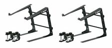2 Odyssey LSTAND Laptop Stand Pro DJ Computer Brackets w/ 3 Configurations BLACK