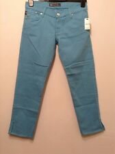 BNWT🌷Rock & Republic 🌷Blue Cropped Trousers Size 27 Aqualite Denim Jeans New10