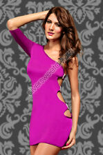 Woman Dress Sexy Little Evening Girl Disco Party One Shoulder Rhinestone