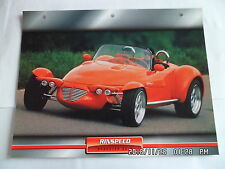 CARTE FICHE VOITURES D'EXCEPTION RINSPEED ROADSTER SC-R