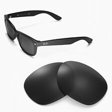 WL Polarized Black Replacement Lenses For Ray-Ban Wayfarer 2132 55mm