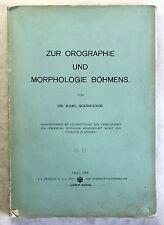 Schneider Orographie & Morphologie Böhmens 1908 Landeskunde Geografie Geologie