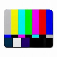 TV Test Screen Television Color Bars SMPTE PC Mouse Pad Mat Mousepad New!