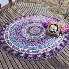 Hippie Indian Mandala Round Roundie Beach Towel Throw Rug Boho Tapestry Yoga Mat
