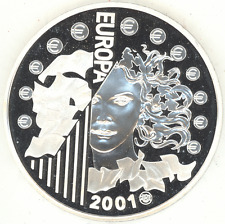 France 6,55957 Francs 2001 EURO CURRENCY EQUIVALENTS Gem Proof silver