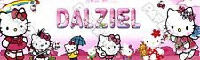 """Hello Kitty Poster Banner 30"""" x 8.5"""" Personalized Custom Name Printing for Kids"""