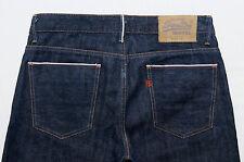 Superdry slim fit straight leg button fly indigo dark blue denim jeans W30/L34