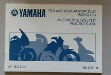 Yamaha Riding Tips Motorcycle Skill Test Practice Guide - 1989