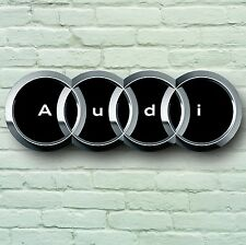 AUDI LOGO 700mm LARGE GARAGE SIGN WALL PLAQUE CAR CLASSIC WORKSHOP S4 S3 RS6 RS4