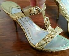 Elegante High Heel Clogs / Sandals golden, UK size 6, euro 39