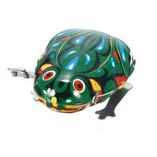 Vintage Wind Up Animal Jumping Frog Retro Classic Clockwork Tin Toy Gift