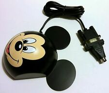 RARE VINTAGE - DISNEY MICKEY MOUSE 2-BUTTON COMPUTER MOUSE + ADAPTER