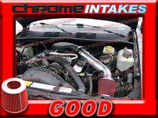 BLACK RED 93 94-98 JEEP GRAND CHEROKEE/LAREDO 5.2L 5.9L V8 AIR INTAKE KIT 2