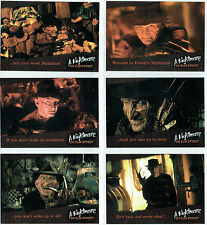 A NIGHTMARE ON ELM STREET COMPLETE SET OF SIX PROMOTIONAL CARDS NMP1-NMP6