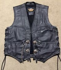 Harley Davidson Leather Gambler Vest NWOT Men's Large