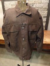 Karl Kani Jeans Denim Jacket Vintage Hip Hop Brown Denim Men's Size Large HTF!
