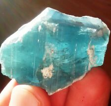 251. Carats Beautiful  Blue Color  Tourmaline Rough Crystals  From Afghanistan