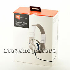 JBL Synchros S300a Premium On-Ear Stereo Headphones Headset w/Mic Remote White