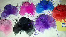 Job lot 12 pcs Small Hat Design Hair Fascinator on Hairclip NEW wholesale Lot A