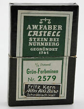 Vintage A.W.Faber Castell 5,6mm Minen Grün Farbminen Nr 2579 pencil leads green
