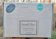 Barrett House Shabby Chic White Embroidered Cutwork Lace QUEEN Sheet Set Cottage